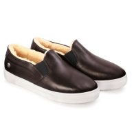 SLIP-ON SNEAKERS SMOOTH S1 - Dark Marsala