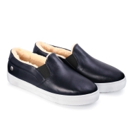 SLIP-ON SNEAKERS SMOOTH S1 - Dark Blue