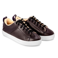 SNEAKERS SMOOTH SN1 - Dark Marsala